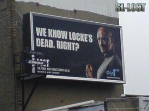 Un cartellone con Locke